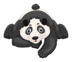 Cute panda crawling on the ground Stock Illustration