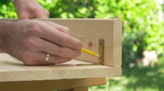 Building a furniture Stock Footage
