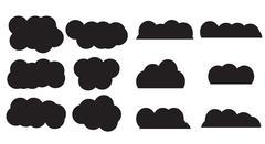 Abstract form shape cloud set - stock illustration