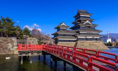 Matsumoto castle in spring season, Nagano, Japan Stock Photos