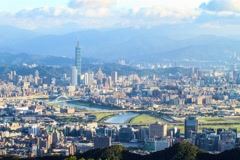 Taipei, Taiwan Cityscape from Neihu District Stock Footage