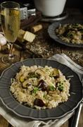 Original italian risotto - stock photo