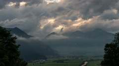Time lapse Clouds im Hart im Zillertral in Austria Stock Footage