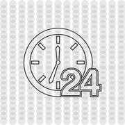 All time service design Stock Illustration