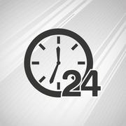 all time service design - stock illustration