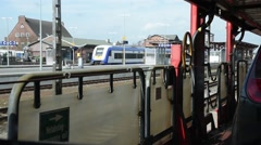 The train to Sylt - stock footage