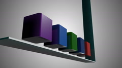 Animated bar chart showing successful results. - stock footage