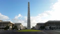The obelisk to Guglielmo Marconi in Rome - stock footage