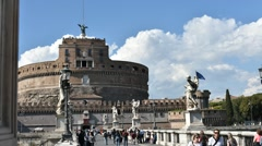 Castel Saint Angel in Rome Stock Footage