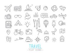 Travel flat icons - stock illustration