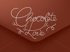 Valentines envelope chocolate - stock illustration