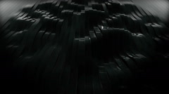 Black waving 3d rendered stripes - stock footage