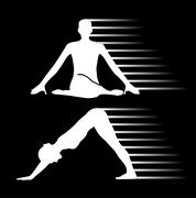 Meditation and yoga energy  Piirros