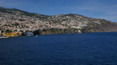 Madeira passing the island Stock Footage