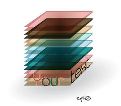 Multicolor abstract logo rectangle. - stock illustration