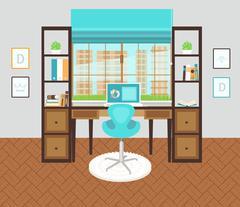Interior office area Stock Illustration