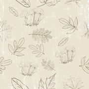 Seamless texture with autumn nature. - stock illustration
