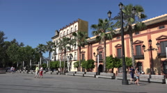 Spain Seville row of buildings Stock Footage
