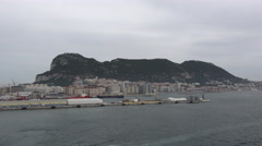 Gibraltar leaving the Rock Stock Footage