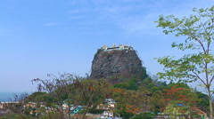 Monastery on top of Mount Popa - stock footage