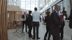 Corporate event, networking people colorgraded Stock Footage