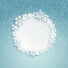 Circular Christmas frame. - stock illustration