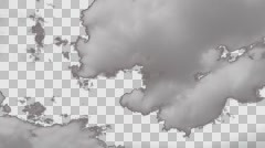 Pre keyed time lapse clouds passing by for special compositing Stock Footage