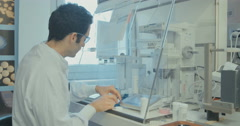 Research work for a pharma company Stock Footage