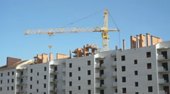 Construction of multi-storey residential building Stock Footage