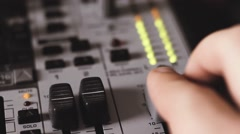 Soundboard Main Faders - stock footage