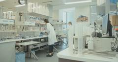 Pharma company laboratory Stock Footage