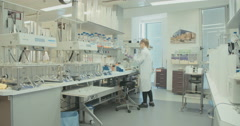 Large research laboratory Stock Footage