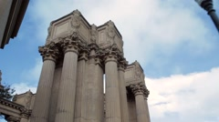 Architecture Palace of Fine Arts San Francisco California Stock Footage