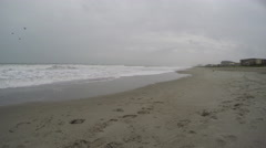 4K Time Lapse of Ocean Tide on a Cloudy Day. Stock Footage