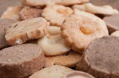 Alsatian cookies on wooden background Stock Photos