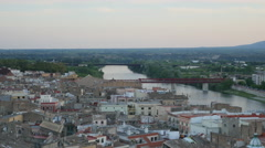 Spain Tortosa city in twilight - stock footage