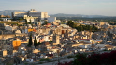 Spain Tortosa view of city in afternoon light Stock Footage