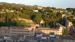 Spain Tortosa view of city outskirts Stock Footage