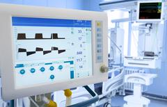 Mechanical Lung ventilation in ICU Stock Photos
