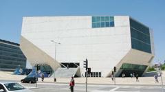 Casa da Musica, Porto, Portugal Stock Footage