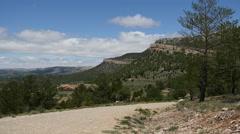 Spain Sierra de Gudar dirt road to adventure Stock Footage