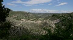 Spain Sierra de Gudar moving shadows Stock Footage