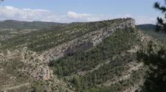 Spain Sierra de Gudar tilted strata Stock Footage