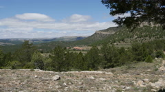 Spain Sierra de Gudar view with stony foreground Stock Footage