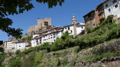 Spain Alcala de la Selva town view Stock Footage