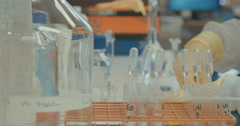 Close up of lab work Stock Footage