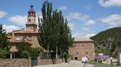 Spain Cabra de Mora road by town Stock Footage