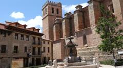 Spain Mora de Rubielos church Stock Footage