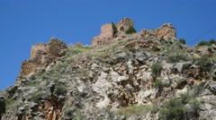 Spain Sierra de Albarracin Castello de Santa Croche Stock Footage
