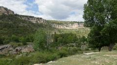 Spain Serrania de Cuenca cliffs near Una Stock Footage